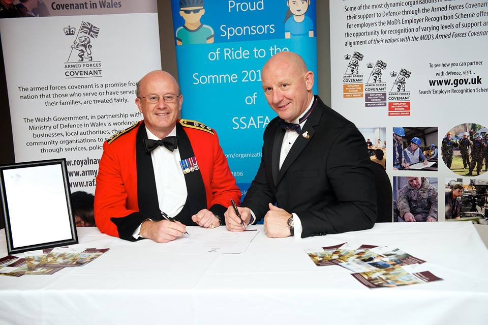 Clive, Pinnacle CEO, signing the Armed Forces covenant